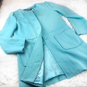 Mossimo Turquoise Wool Coat